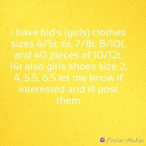 Kids (girls) clothes